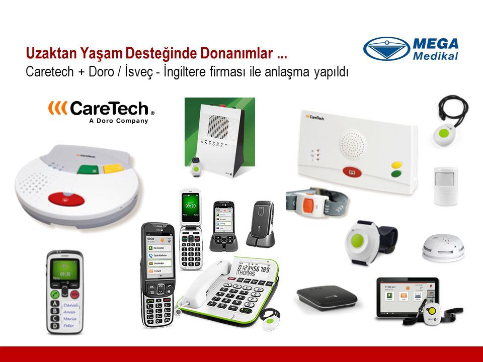 Uzaktan Yaşam Desteğinde Donanımlar... Caretech + Doro / İsveç - İngiltere firması ile anlaşma yapıldı