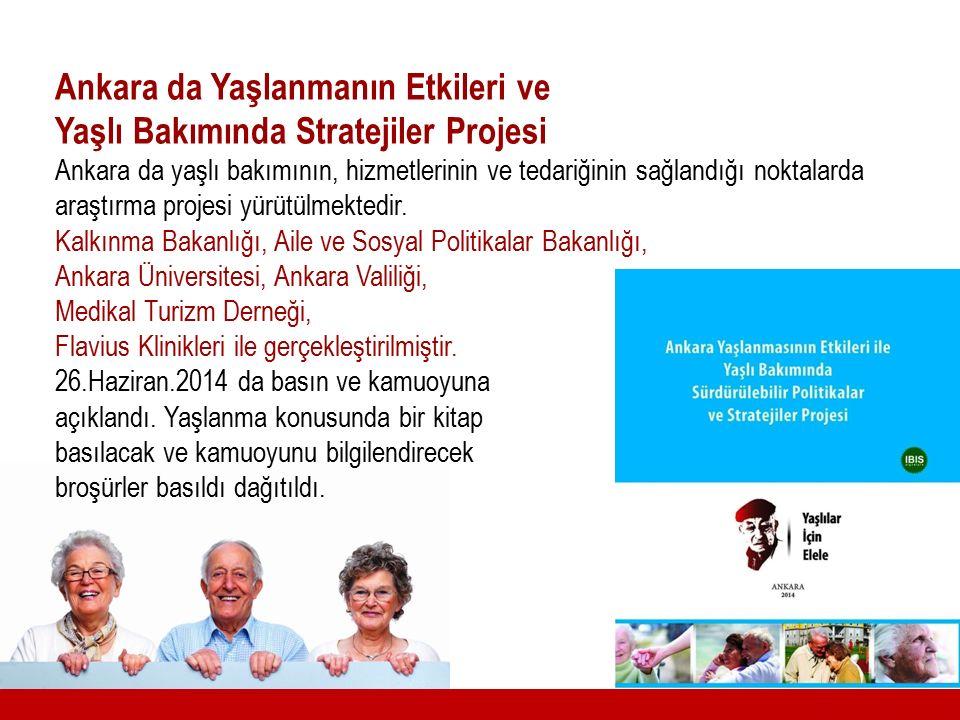 Ankara da Yaşlanmanın Etkileri ve Yaşlı Bakımında Stratejiler Projesi Ankara da yaşlı bakımının, hizmetlerinin ve tedariğinin sağlandığı noktalarda ar