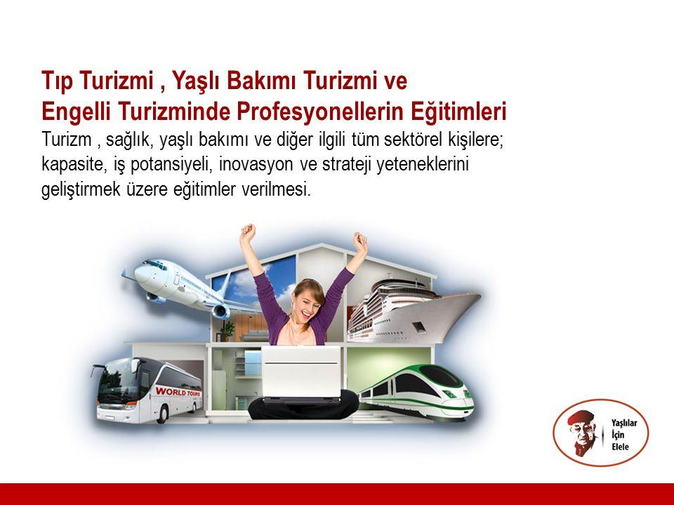 Tıp Turizmi, Yaşlı Bakımı Turizmi ve Engelli Turizminde Profesyonellerin Eğitimleri Turizm, sağlık, yaşlı bakımı ve diğer ilgili tüm sektörel kişilere
