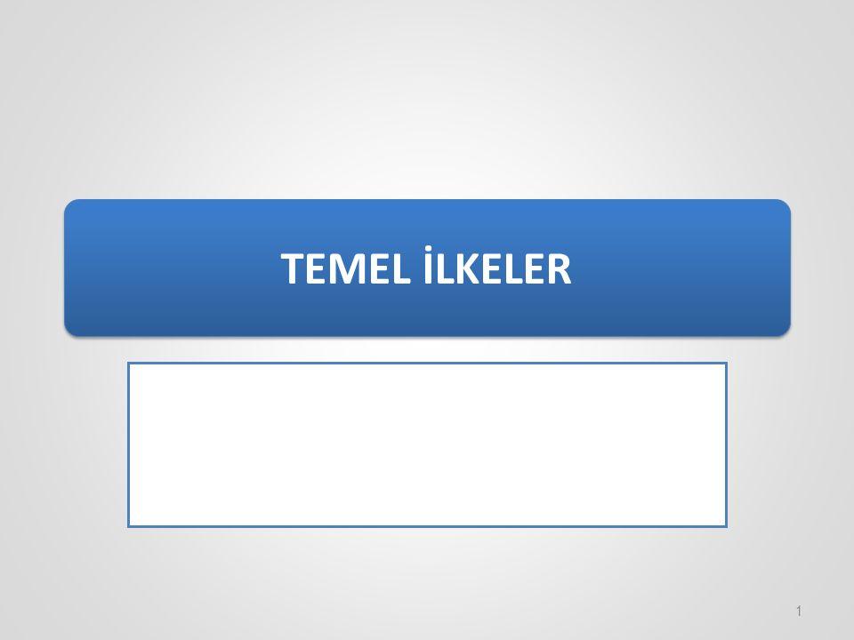 TEMEL İLKELER 1