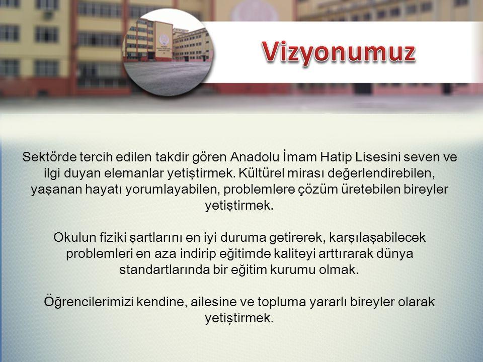 Sektörde tercih edilen takdir gören Anadolu İmam Hatip Lisesini seven ve ilgi duyan elemanlar yetiştirmek.