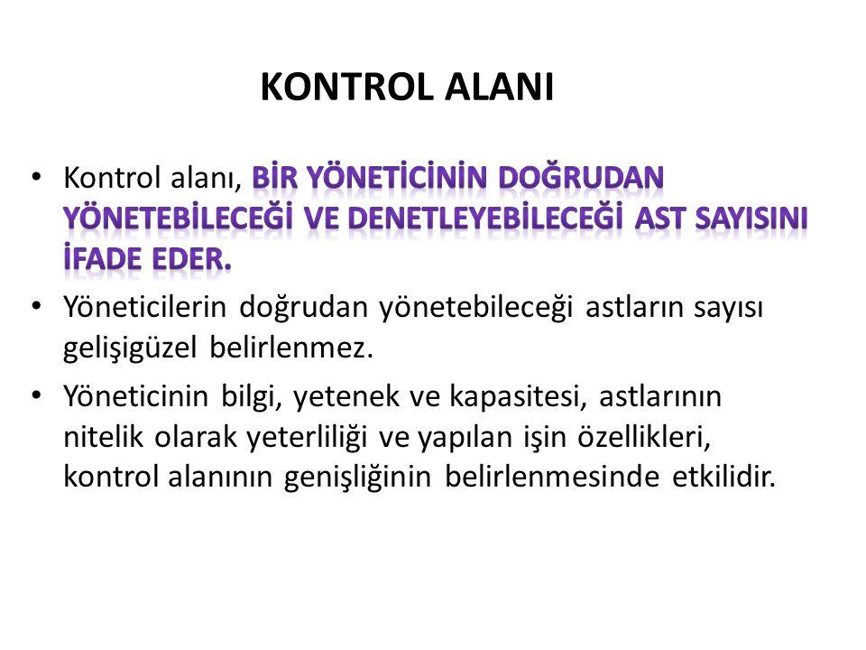 KONTROL ALANI