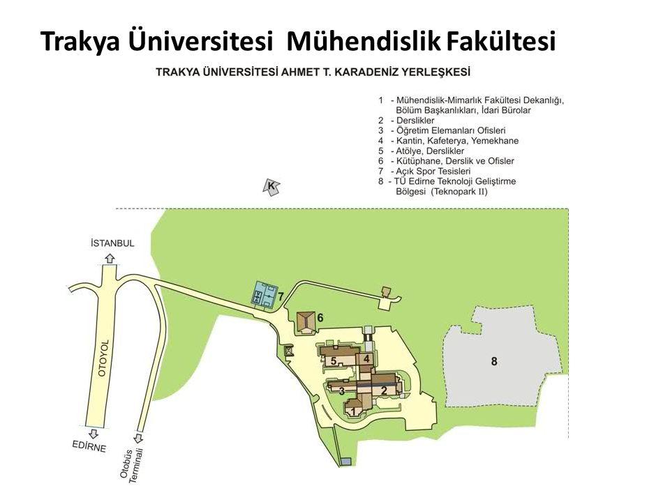 Trakya Üniversitesi Mühendislik Fakültesi Prof. Dr. Ahmet Karadeniz Yerleşkesi