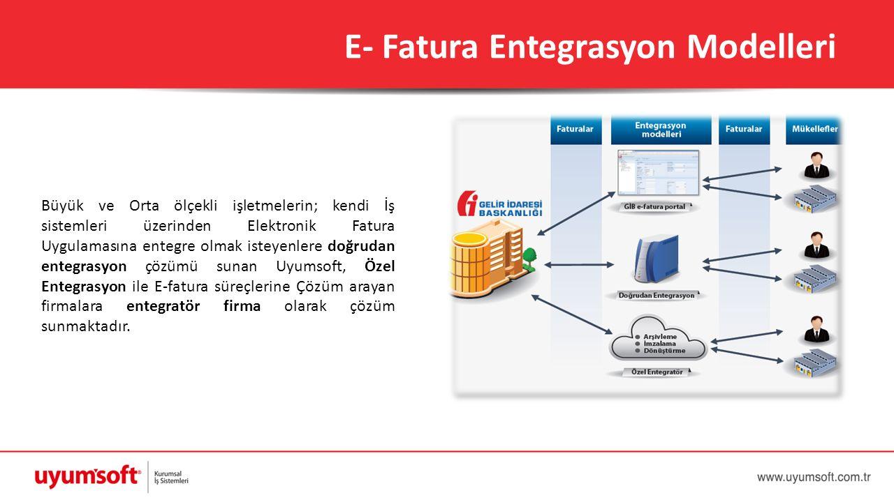 Büyük ve Orta ölçekli işletmelerin; kendi İş sistemleri üzerinden Elektronik Fatura Uygulamasına entegre olmak isteyenlere doğrudan entegrasyon çözümü