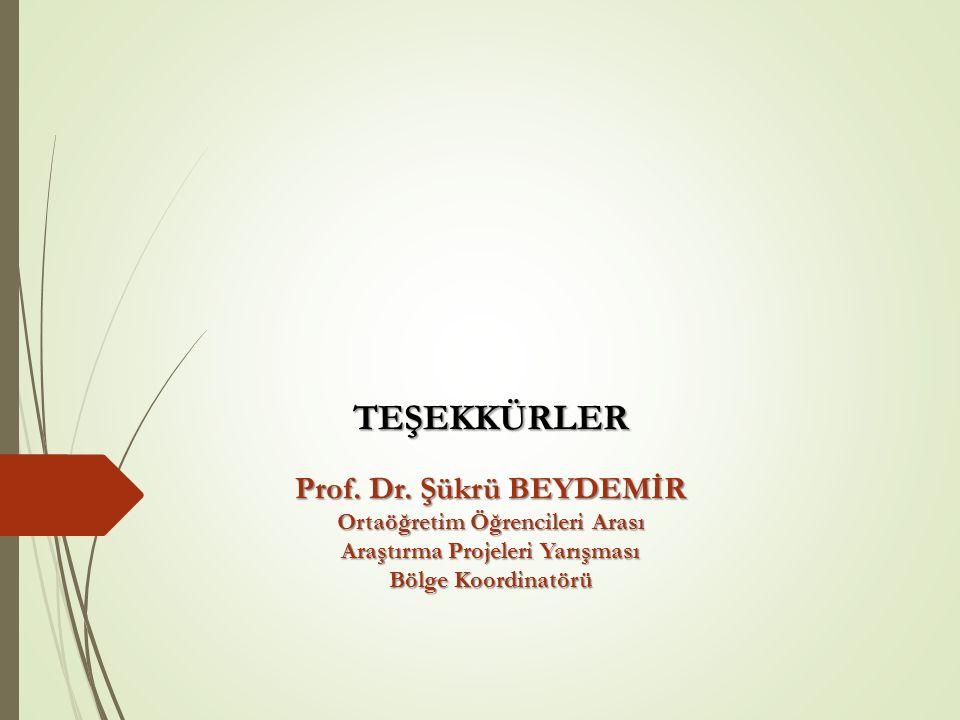 TEŞEKKÜRLER Prof. Dr.