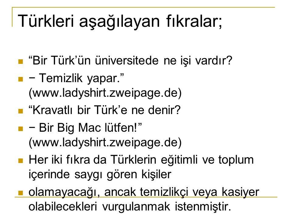 Türkleri aşağılayan fıkralar; Bir Türk'ün üniversitede ne işi vardır.