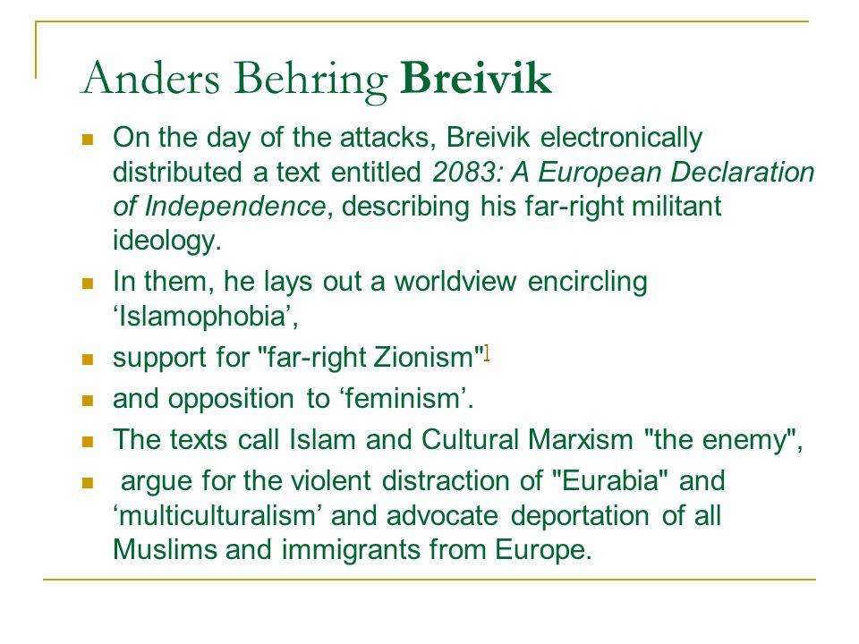Anders Behring Breivik Norway mass killer Anders Behring Breivik defends massacre: I would have done it again