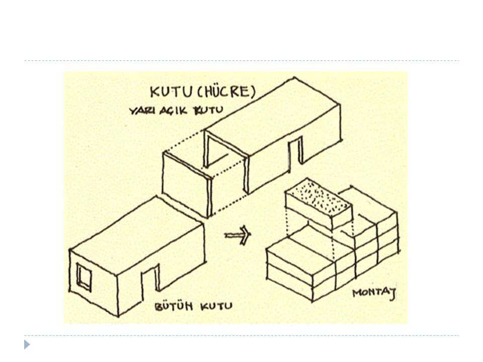 4) Karışık sistemle yapım: Di ğ er strüktürel sistemlerin (iskelet, pano, kutu) bir arada kullanıldı ğ ı sistemler.
