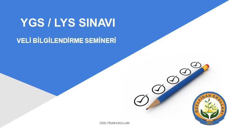 VELİ BİLGİLENDİRME SEMİNERİ YGS / LYS SINAVI ÖZEL FİDAN OKULLARI