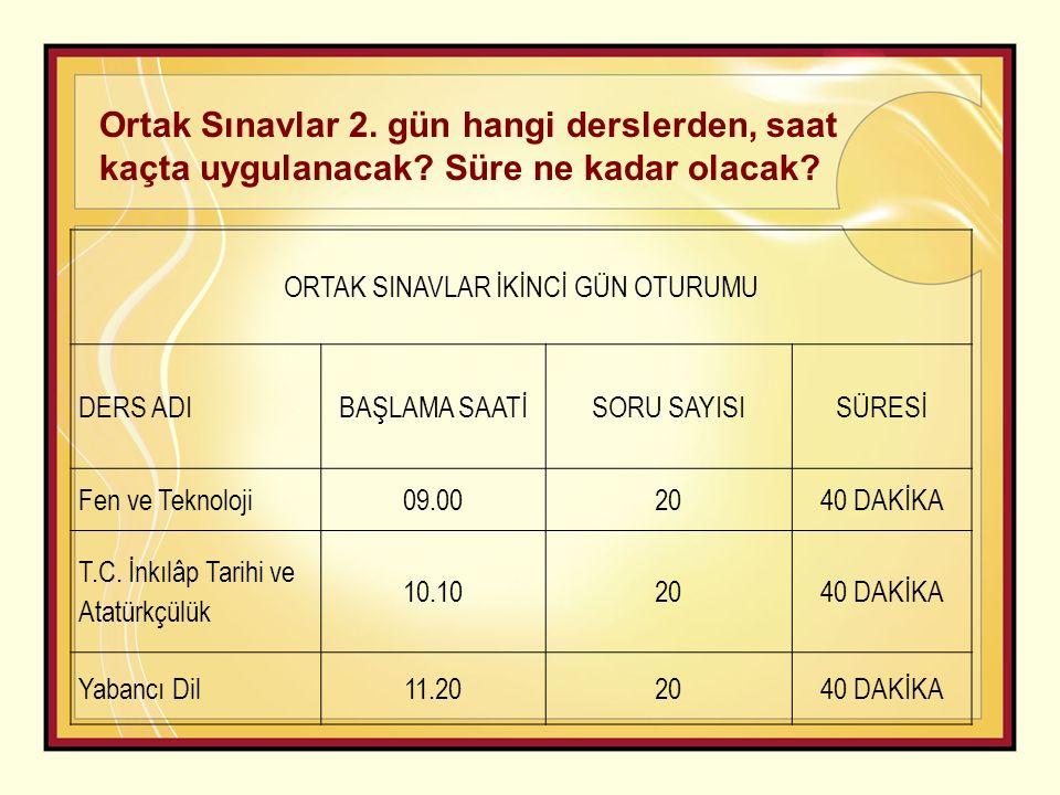 6.ORTAK SINAVLARA GİRİŞ YERİ a.