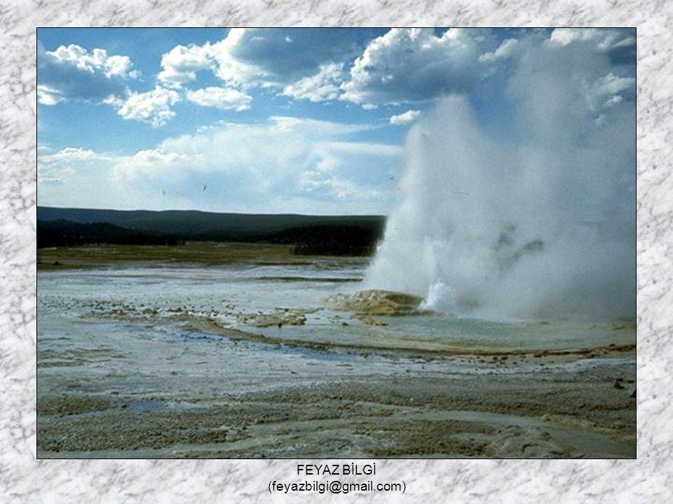 FEYAZ BİLGİ (feyazbilgi@gmail.com) 5- Gayzer kaynağı : Volkanik sahalarda, gaz basıncı ile zaman zaman yer altından fışkıran kaynaklardır.