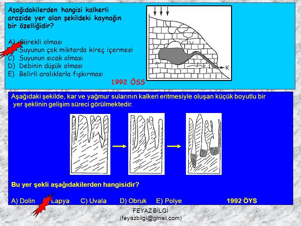 FEYAZ BİLGİ (feyazbilgi@gmail.com) Aşağıdakilerden hangisi, şekildeki kaynağın bir özelliği değildir? A) Sularının ılık veya sıcak olması B) Sularının