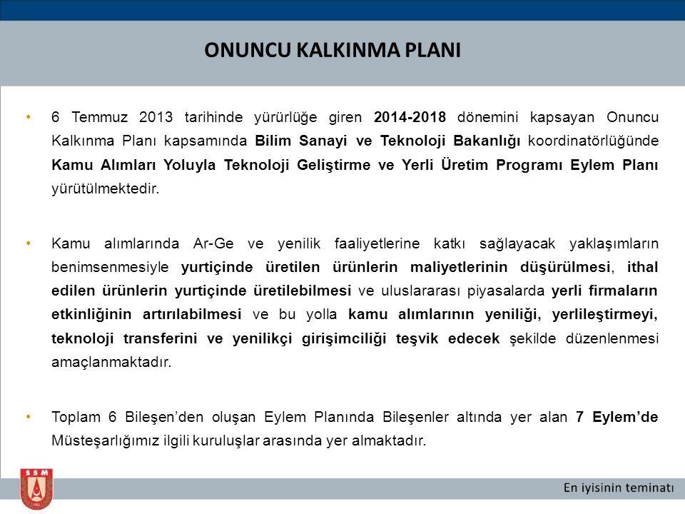 6 Temmuz 2013 tarihinde yürürlüğe giren 2014-2018 dönemini kapsayan Onuncu Kalkınma Planı kapsamında Bilim Sanayi ve Teknoloji Bakanlığı koordinatörlü