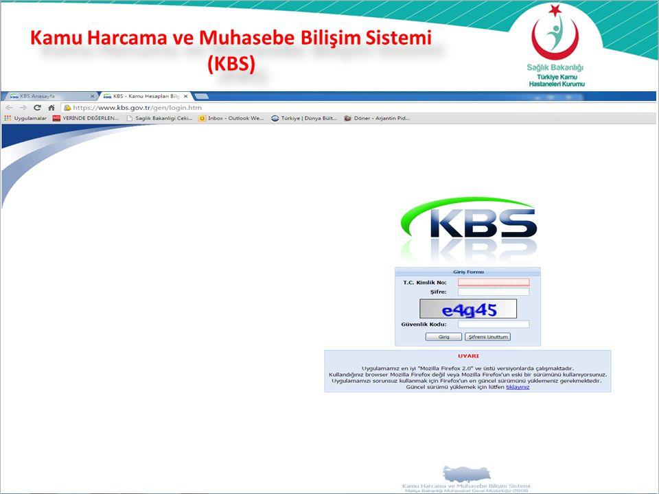 Kamu Harcama ve Muhasebe Bilişim Sistemi (KBS) 33