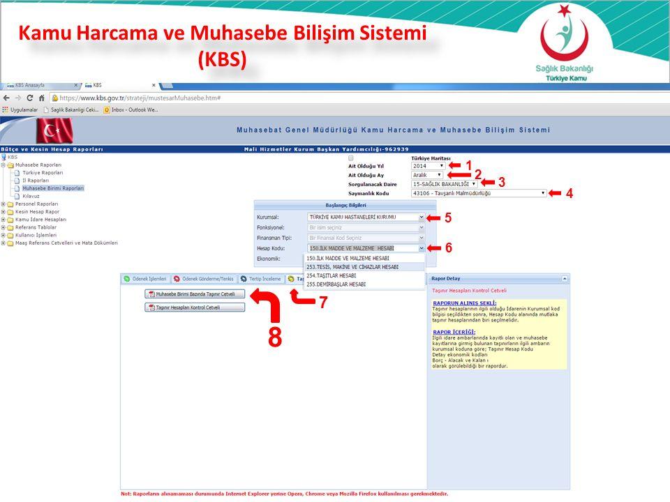 Kamu Harcama ve Muhasebe Bilişim Sistemi (KBS) 37 1 2 3 4 5 6 7 8