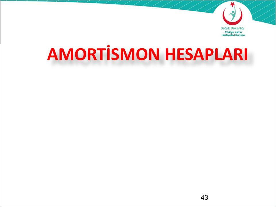 AMORTİSMON HESAPLARI 43