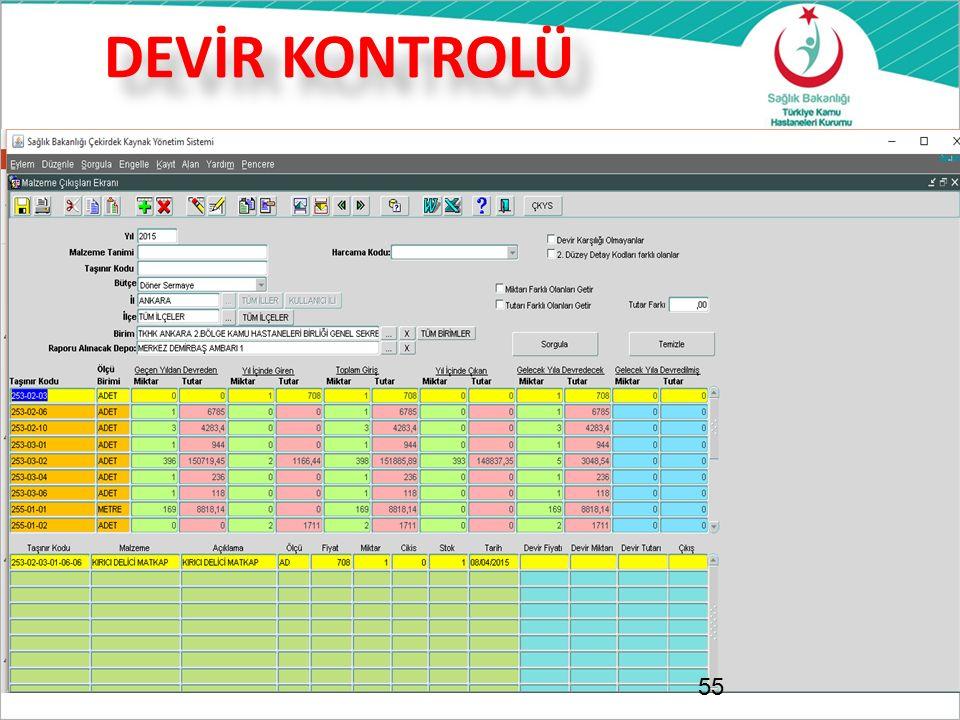 DEVİR KONTROLÜ 55