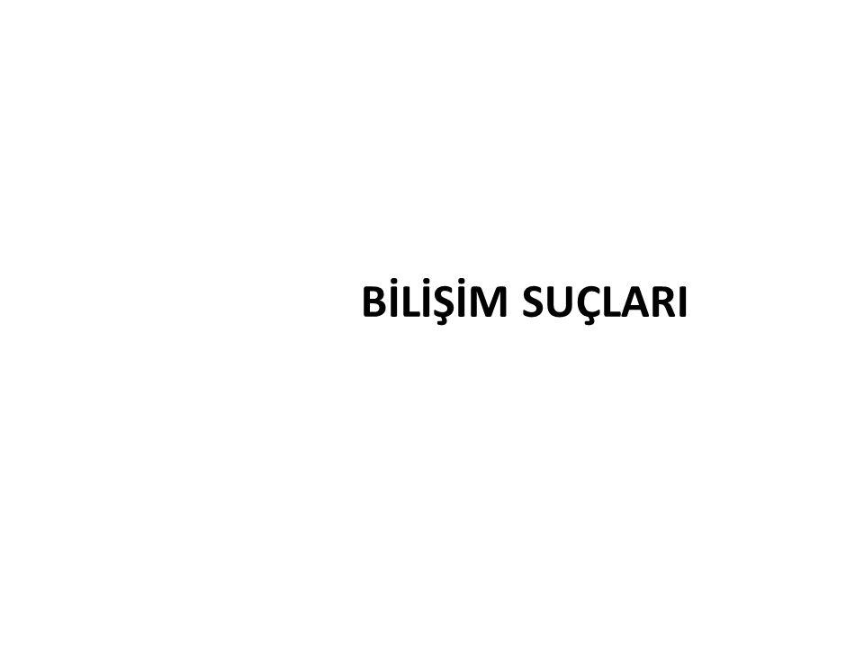 BİLİŞİM SUÇLARI