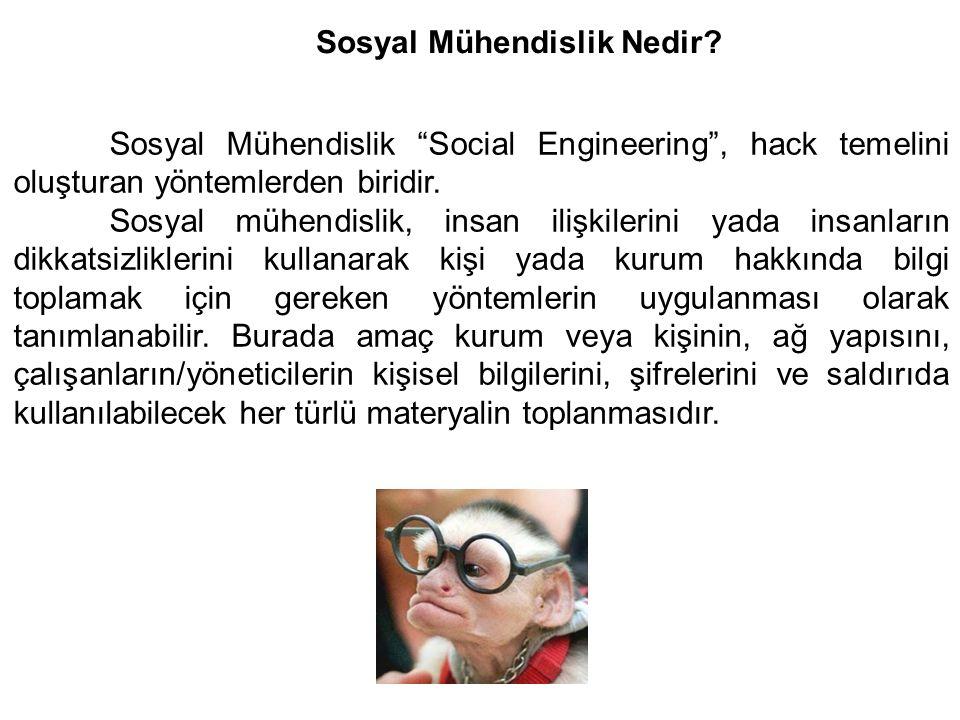 Sosyal Mühendislik Nedir.