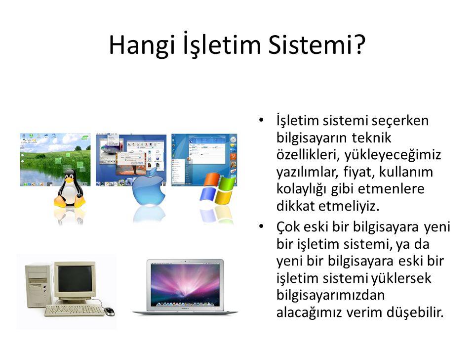 Hangi İşletim Sistemi.