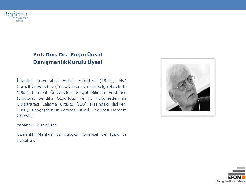 İstanbul Üniversitesi Hukuk Fakültesi (1959); ABD Cornell Üniversitesi (Yüksek Lisans, Yazılı Belge Hareketi, 1965) İstanbul Üniversitesi Sosyal Bilimler Enstitüsü (Doktora, Sendika Özgürlüğü ve TC Hükümetleri ile Uluslararası Çalışma Örgütü (ILO) arasındaki ilişkiler, 1980); Bahçeşehir Üniversitesi Hukuk Fakültesi Öğretim Görevlisi Yabancı Dil: İngilizce Uzmanlık Alanları: İş Hukuku (Bireysel ve Toplu İş Hukuku).