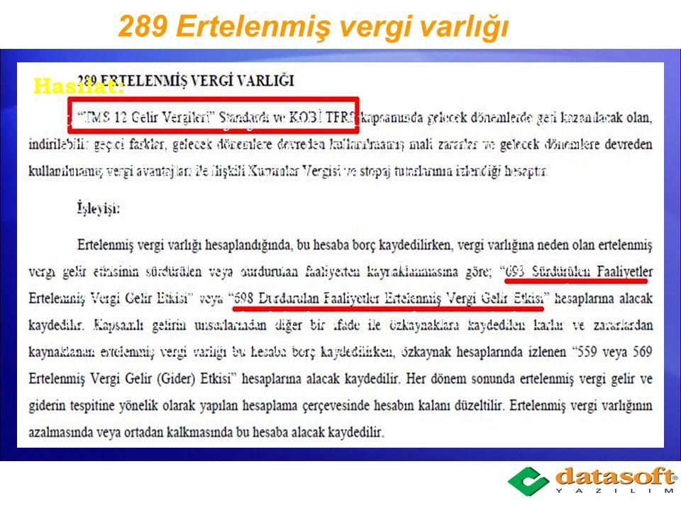 693 Sürdürülen Faaliyetler Ertelenmiş Vergi Gelir Etkisi (+)