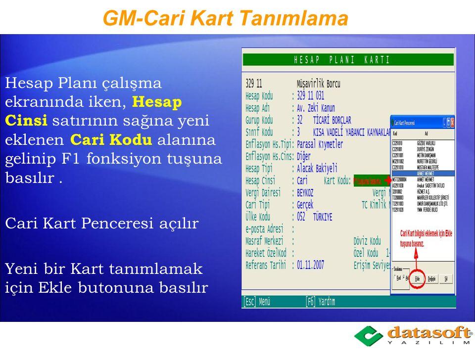 Muhtasar için Neler Yapıldı Hesap planında Hesap Cinsi seçeneği arasında STOPAJ hesabı eklenerek bu hesabın oranı ve tür kodu tanımlanması, Hesap cinsi cari olan hesaplarda Cari Kod verilerek detaylı adres bilgileri, Vergi Dairesi ve Vergi Sicil numarası, iletişim bilgileri (telefon, GSM, Faks, e-posta vb...