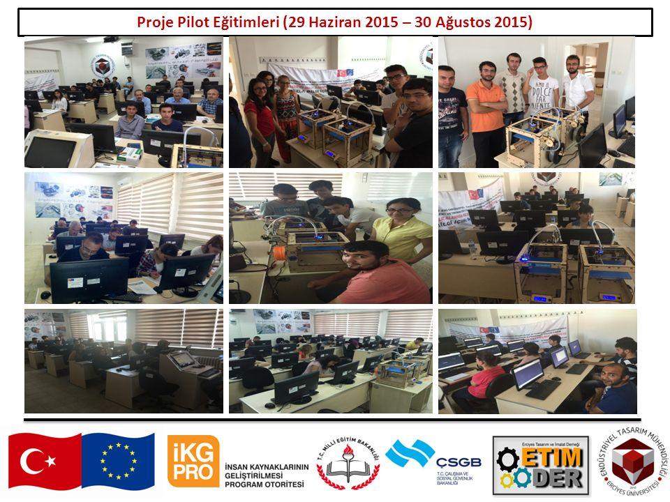 18 Proje Pilot Eğitimleri (29 Haziran 2015 – 30 Ağustos 2015)