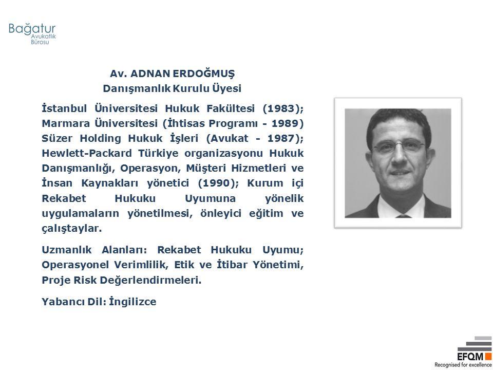 ASIM KOÇ Danışmanlık Kurulu Üyesi İstanbul Üniversitesi Siyasal Bilimler Fakültesi (1987) Doru Finansal Hizmetler (Eğitmen, Danışman 2008- ); BP (Bütçe ve Planlama Müdürdü - 1996 – 2008); ÇUKUROVA İ.İ.T.A.Ş (Finans Müdürü 1993-1996) Uzmanlık Alanları: Şirketlerin karlılık yönetimi, nakit yönetimi, sistem yönetimi ve mali işler biriminin şirket yönetiminde etkin katılımı, İnternet ve yazılım teknolojilerindeki gelişimlerin şirket işlerine entegrasyonu ile şirketlerin rekabetçi gücünü destekleyecek çözümler üretme Yabancı Dil: İngilizce