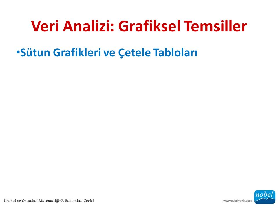 Veri Analizi: Grafiksel Temsiller Sütun Grafikleri ve Çetele Tabloları