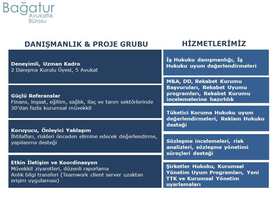 Deneyimli, Uzman Kadro 2 Danışma Kurulu Üyesi, 5 Avukat M&A, DD, Rekabet Kurumu Başvuruları, Rekabet Uyumu programları, Rekabet Kurumu incelemelerine