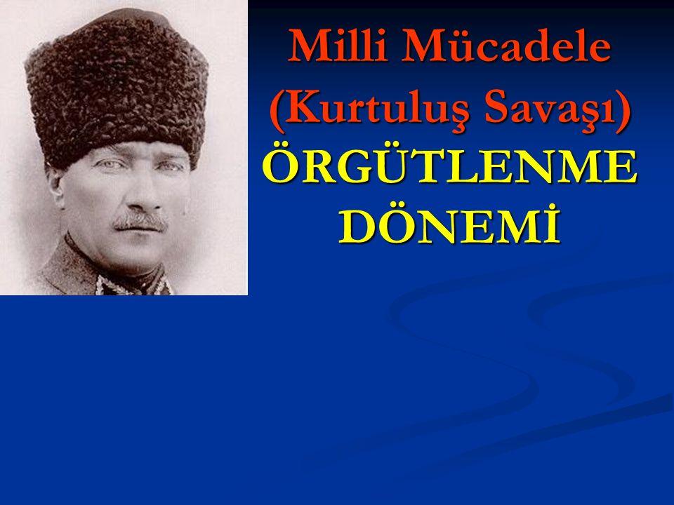 AMASYA GENELGESİ-ÖNEMİ  Türk İnkılabının İHTİLAL safhası başlamıştır.