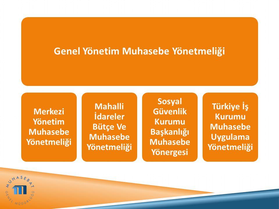 Genel Yönetim Muhasebe Yönetmeliği Merkezi Yönetim Muhasebe Yönetmeliği Mahalli İdareler Bütçe Ve Muhasebe Yönetmeliği Sosyal Güvenlik Kurumu Başkanlı