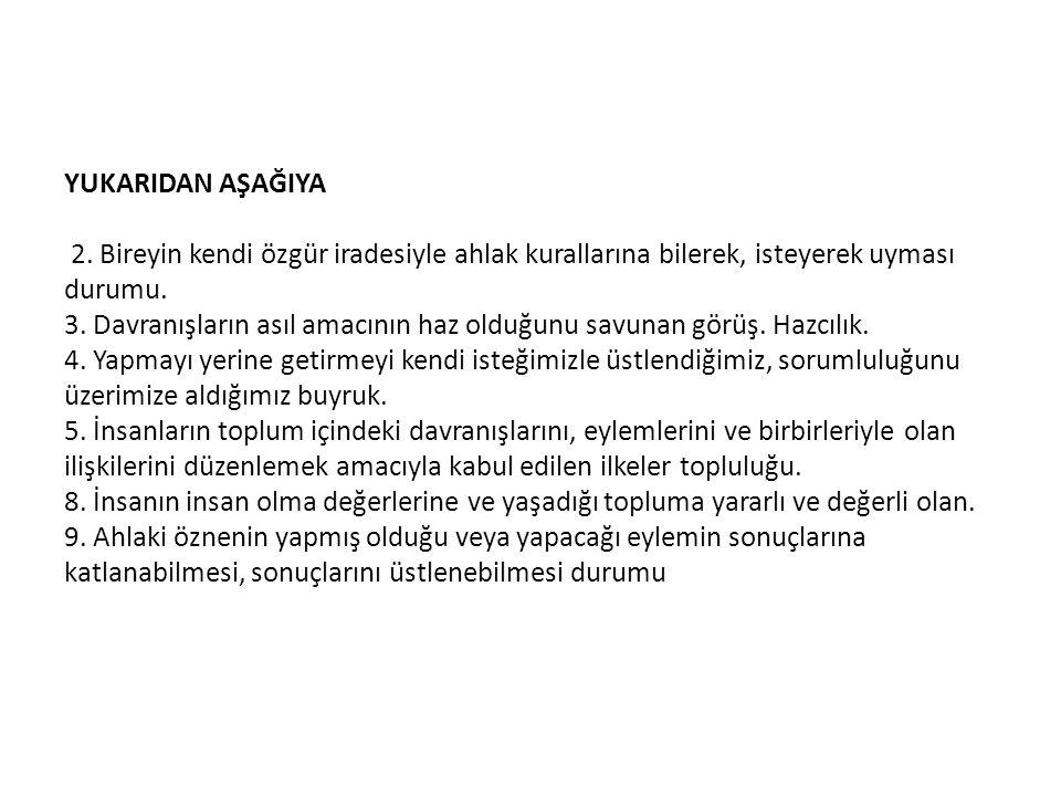 YUKARIDAN AŞAĞIYA 2.