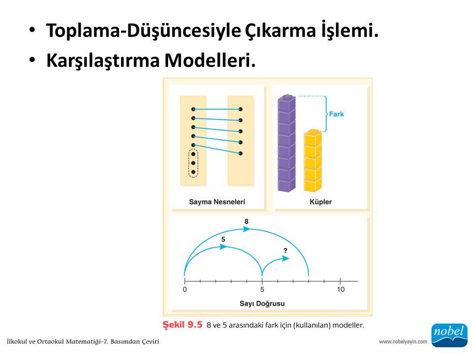Toplama-Düşüncesiyle Çıkarma İşlemi. Karşılaştırma Modelleri.