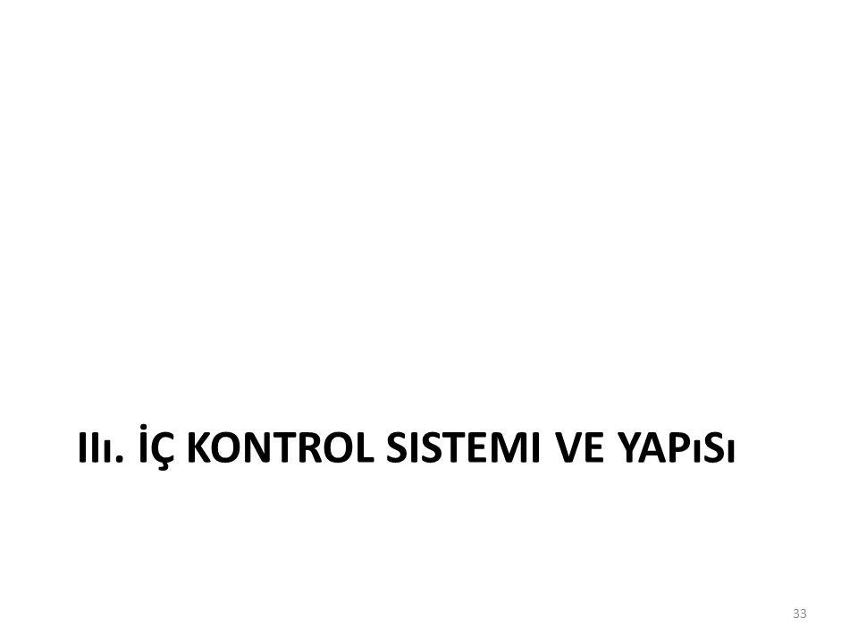 IIı. İÇ KONTROL SISTEMI VE YAPıSı 33