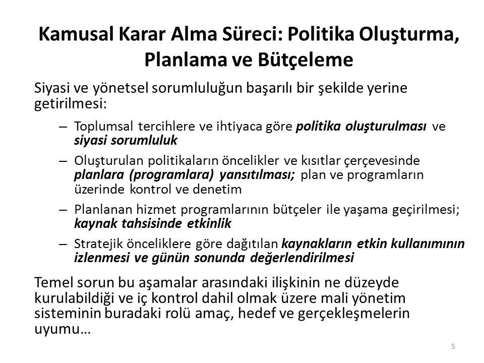 Kamusal Karar Alma Süreci: Politika Oluşturma, Planlama ve Bütçeleme Siyasi ve yönetsel sorumluluğun başarılı bir şekilde yerine getirilmesi: – Toplum