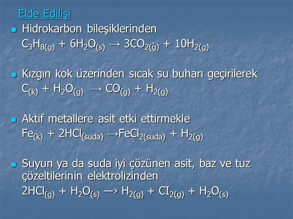 HİDROJENİN DEPOLANMASI VE İLETİM Depolanabilirliği hidrojenin önemli özelliklerinden biridir.