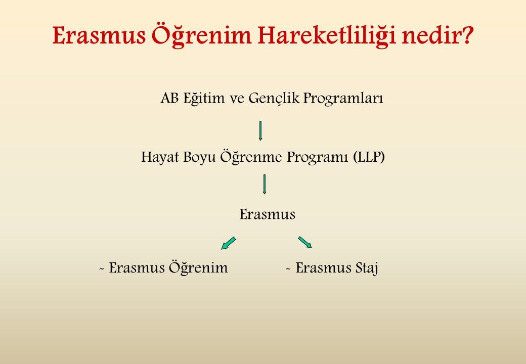 Erasmus Ö ğ renim Hareketlili ğ i nedir.