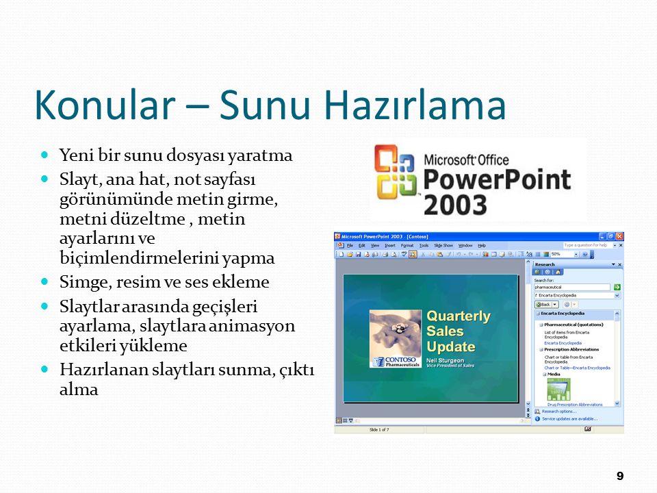 Gerekli Materyaller Bilgisayar laboratuarına ders için gerekli programlar yüklenmiştir.