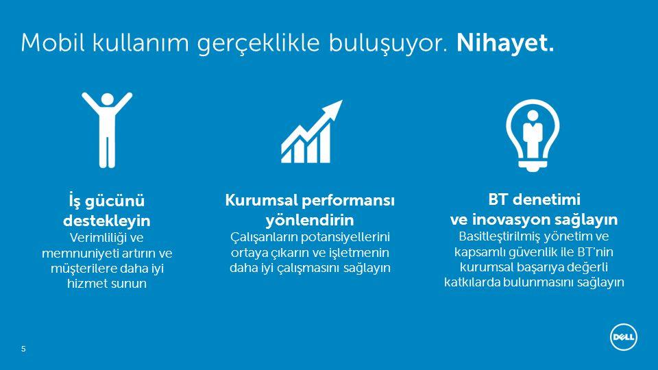 6 Servisler Metne ayrılan alan Dell - Şirket İçinde Kullanım İçin - Gizli Neden Mobil Kullanım için Dell istemci çözümleri.