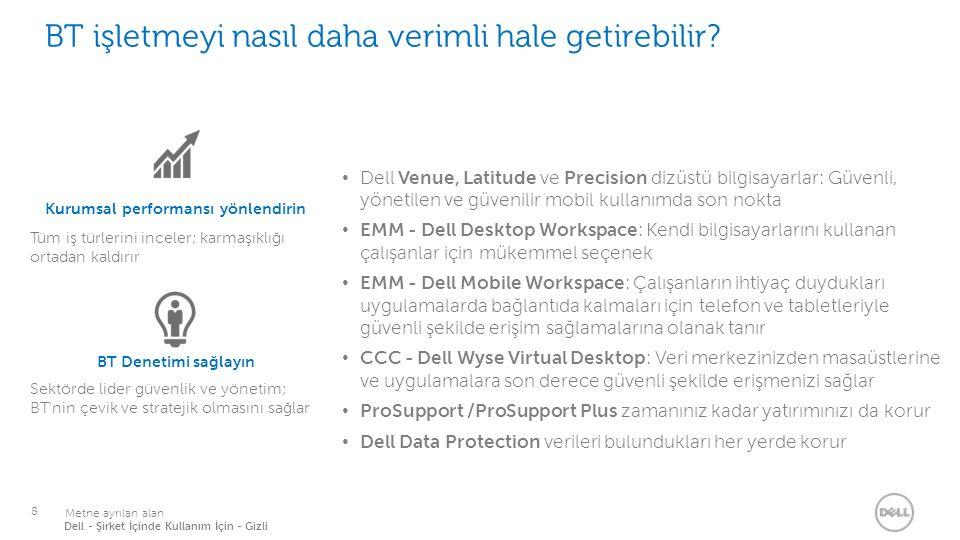 Hareket halindeki çalışanlar için bu düzeyde desteği yalnızca Dell sağlayabilir.