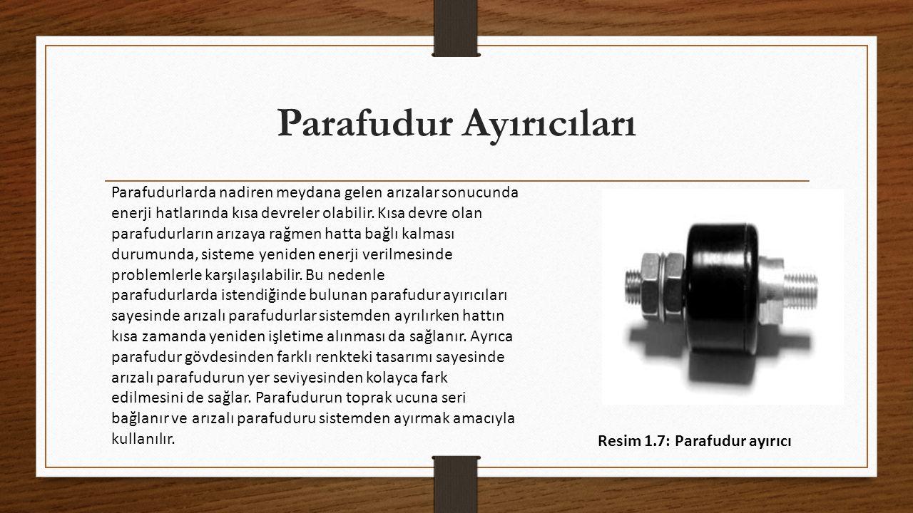 Parafudur Ayırıcıları Parafudurlarda nadiren meydana gelen arızalar sonucunda enerji hatlarında kısa devreler olabilir.