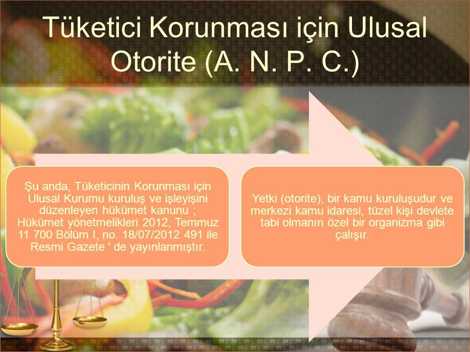 Tüketici Korunması için Ulusal Otorite (A. N. P.