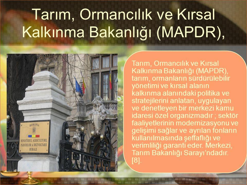 Tarım, Ormancılık ve Kırsal Kalkınma Bakanlığı (MAPDR), Tarım, Ormancılık ve Kırsal Kalkınma Bakanlığı (MAPDR), tarım, ormanların sürdürülebilir yönet