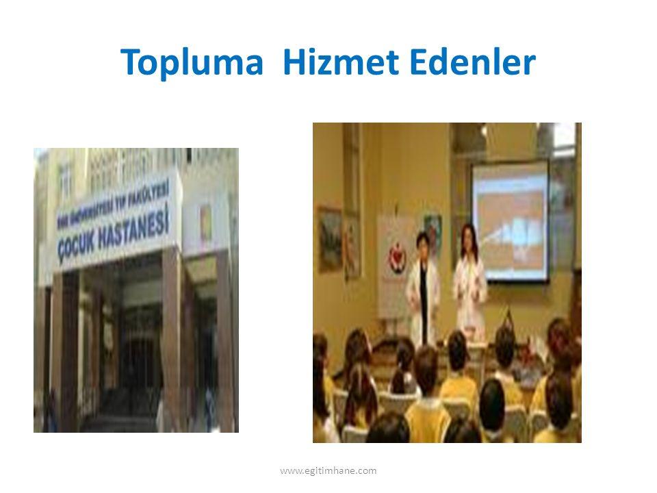 KURUMLAR VE SOSYAL ÖRGÜTLERLE ETKİLEŞİM www.egitimhane.com