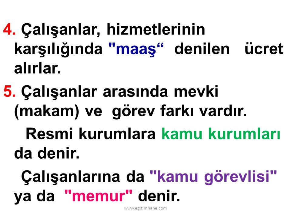 ÜLKEMİZDE FAALİYET GÖSTEREN BAZI RESMİ KURUMLAR 1.