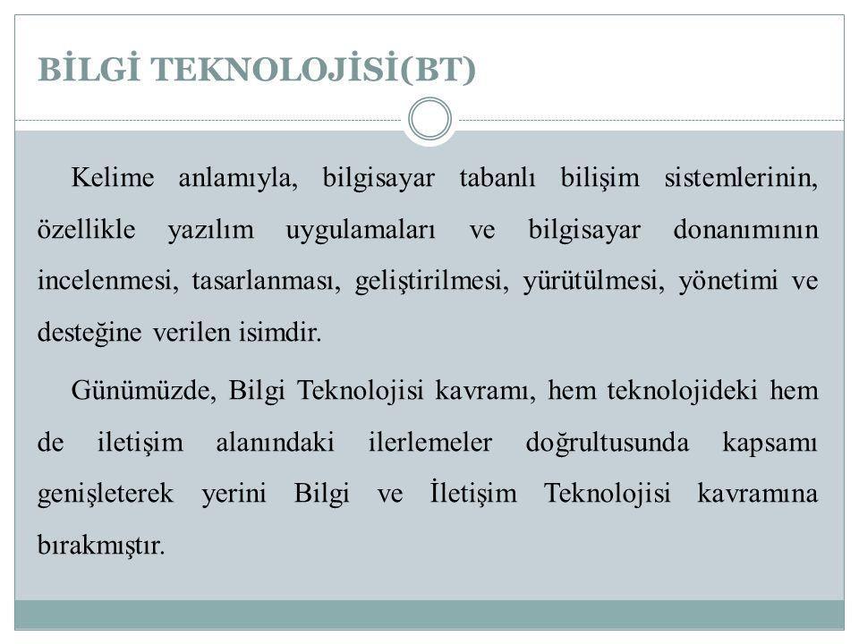 1.ANA BİLGİSAYAR(MAINFRAME) 2.