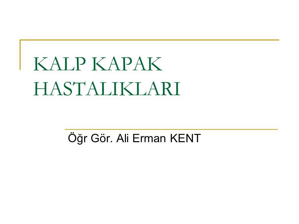 KALP KAPAK HASTALIKLARI Öğr Gör. Ali Erman KENT