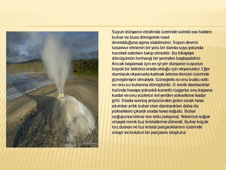 Bir zaman sonra damlamız diğer damlalarla daha büyük bir damla oluşturmak için birleşti ve çökelti olarak dünyaya düştü.